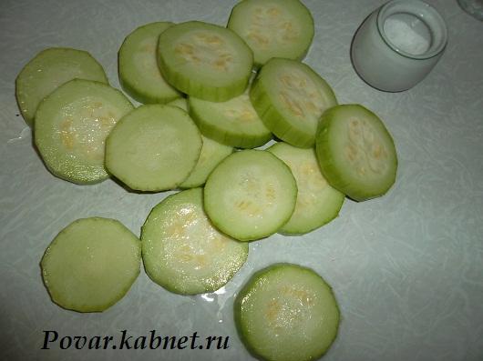 Рецепты жареные кабачки с чесноком