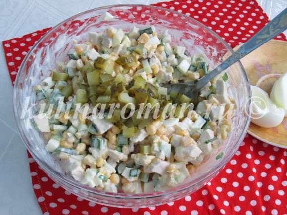 салат с маринованными корнишонами