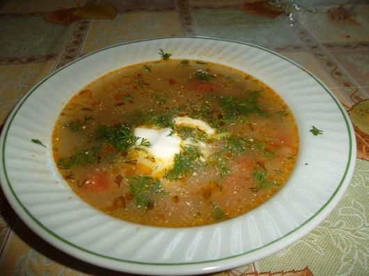 Рыбный суп из голов толстолоба с рисом