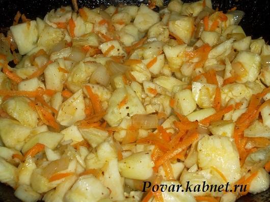 Фаршированные кабачки в духовке с печенью