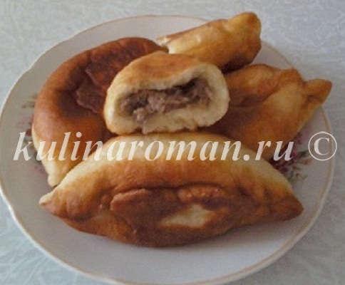 домашние пирожки с паштетом