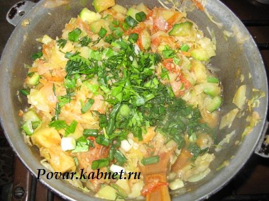 Летнее овощное рагу, Вкусные Рецепты