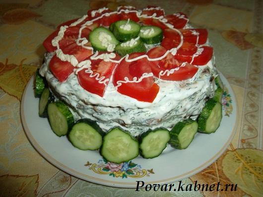 Печёночный торт рецепт