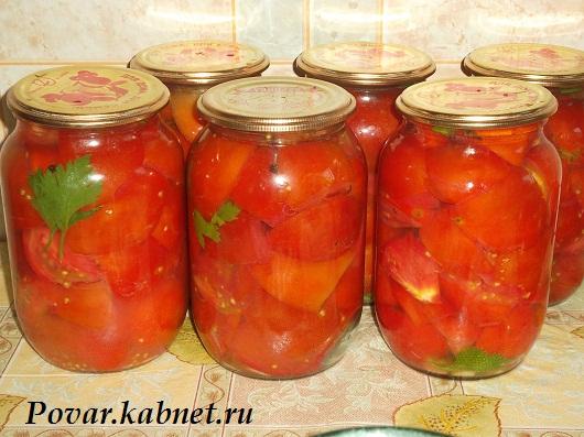 Рецепт салатов из помидор на зиму с