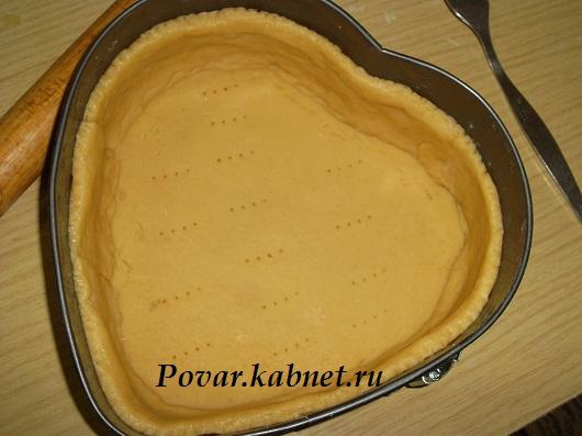 Песочное тесто для творожного пирога