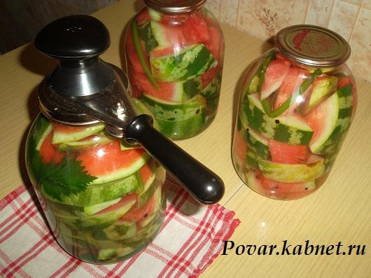 Рецепт маринованных арбузов на зиму