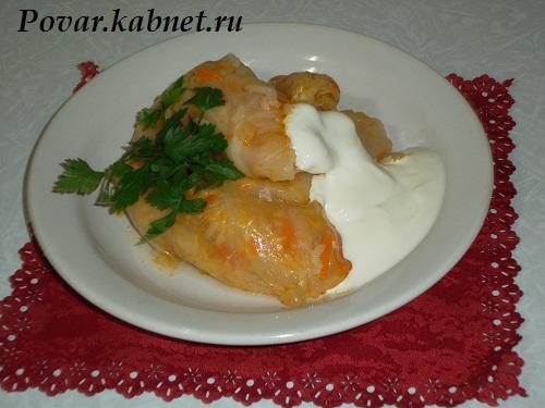 Голубцы из капусты с мясом и рисом