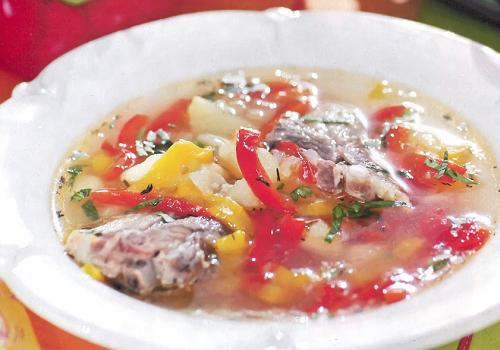 Суп из свиных ребер