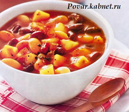 Фасолевый суп с консервированной фасолью рецепт