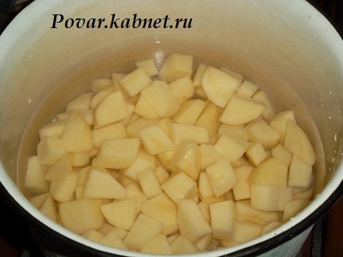 Тушеная картошка с грибами рецепт