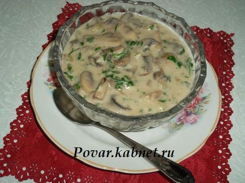 соус из грибов со сметаной рецепты