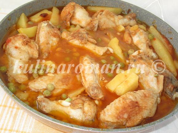 вкусный обед из курицы