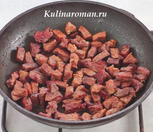 Жареное мясо телятины