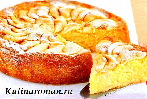 Десерт из яблок и творога