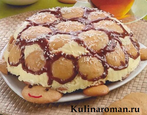 рецепт торта черепаха со сметаной