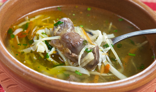 суп с куриными потрохами