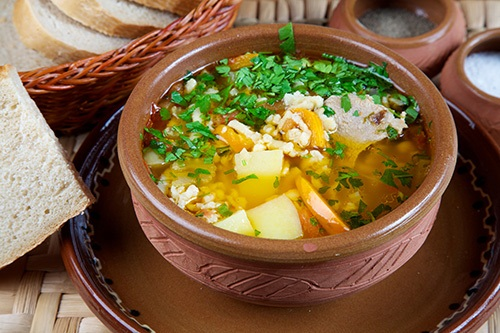 рецепт мясного супа с клецками