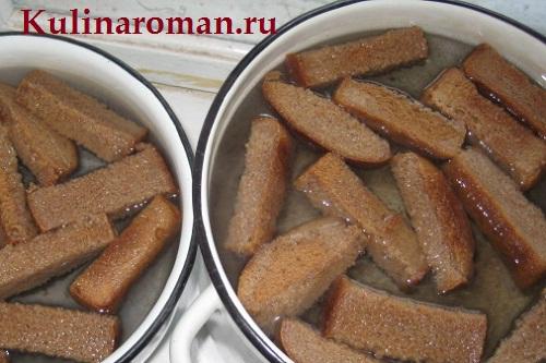 рецепт кваса из ржаного хлеба
