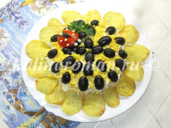салат подсолнух пошаговый рецепт