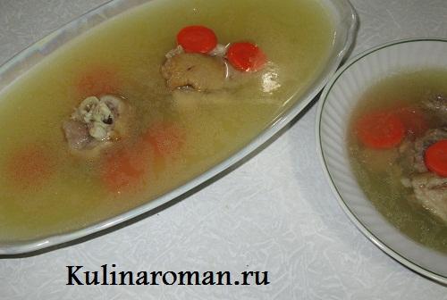 рецепт холодца из свиных ножек