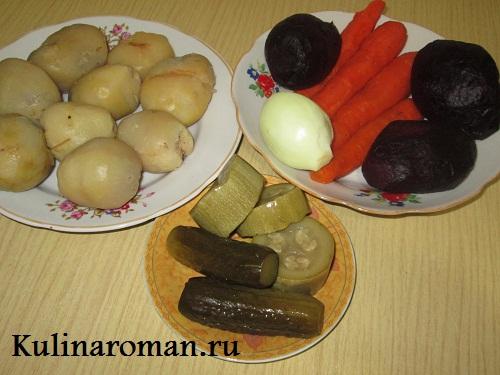 салат из овощей отварных