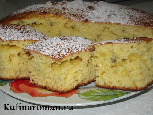 пирог бисквитный рецепт с фото