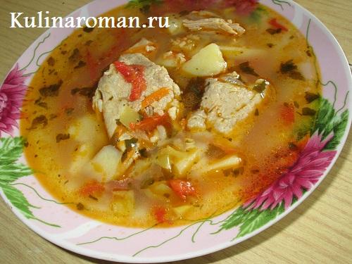 суп с рисом и тушенкой