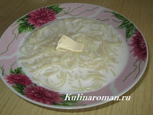 молочный суп с макаронами вермишель