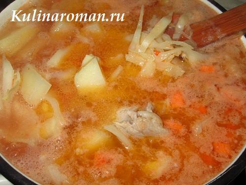 овощной суп из капусты