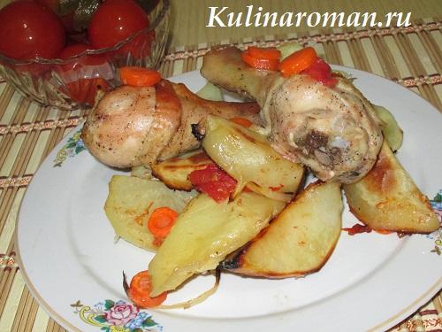 запеченный картофель с курицей рецепт