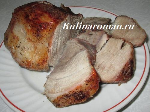 запеченное мясо свинины