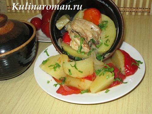 картошка с мясом в горшочках в духовке