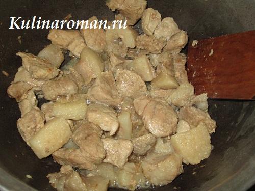 гречка со свининой