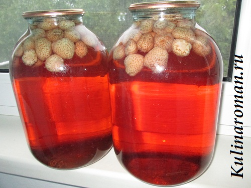 компот из клубники пошаговый рецепт