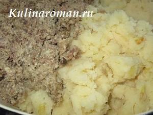 дрожжевой пирог с паштетом и картошкой