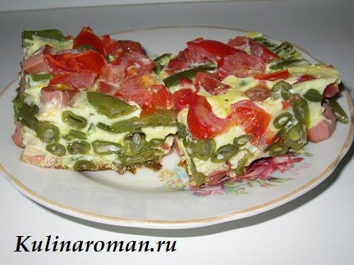 omlet-so-struchkovoj-fasolyu