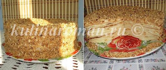 торт наполеон бабушки эммы рецепт с заварным кремом