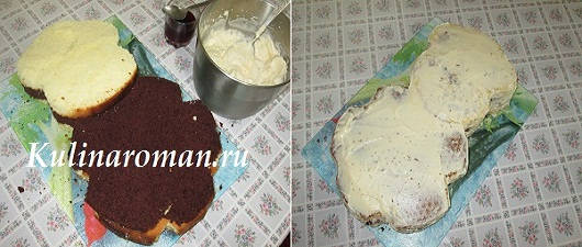собираем детский торт