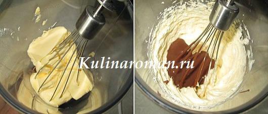 шоколадно-маслянный крем для торта