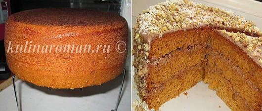 рецепты торта с медовым бисквитом