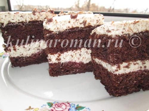десерт с шоколадом и взбитыми сливками рецепт