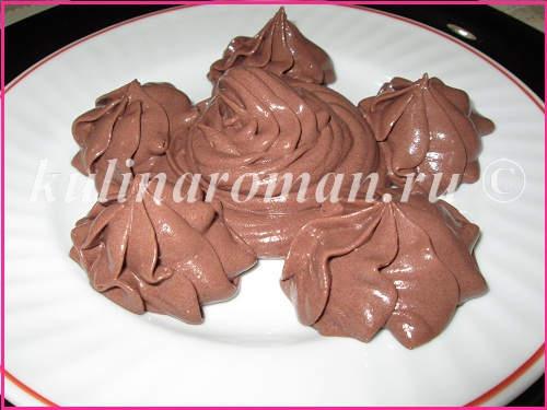 шоколадный заварной крем на желтках