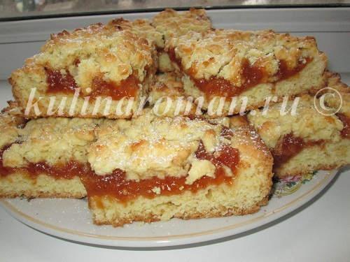 Тертый пирог рецепт песочное тесто с пошагово