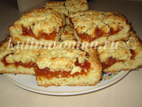 Заливной пирог с повидлом рецепт