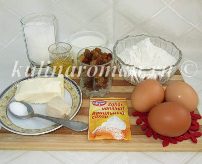 продукты для пасхального кулича