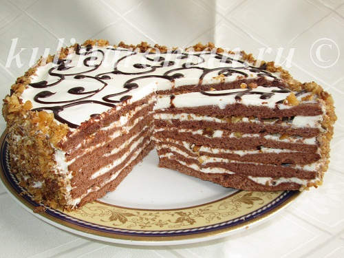 шоколадно медовый торт