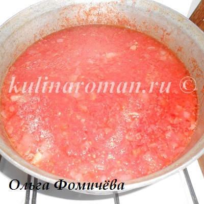 томатный сок на зиму с перцем