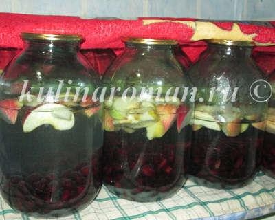 компот из кизила и яблок