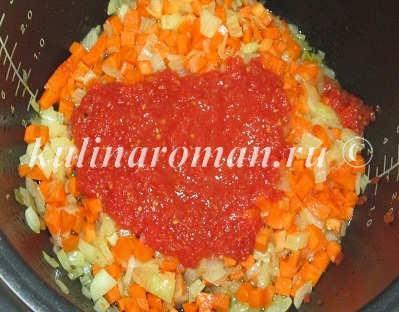 пассерованные овощи с томатами