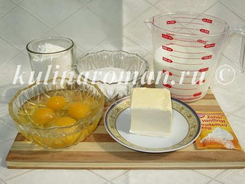 продукты для пирожного